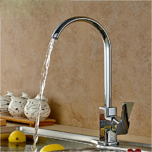Square Chrome Brass Kitchen Bathroom Hot Cold Water Switch Basin ...