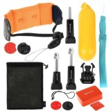 PULUZ 14 in 1 Surfing Accessories Combo Kit  (Bobber Hand Grip + Floaty Sponge + Quick Release Buckle + Surf Board Mount + Floating Wrist Strap + Safety Tethers Strap + Storage Bag ) for GoPro HERO4 Session /4 /3+ /3 /2 /1