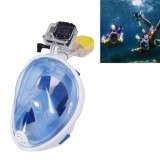 NEOPine Water Sports Diving Equipment Full Dry Diving Mask Swimming Glasses for GoPro HERO4 /3+ /3 /2 /1, M Size (Blue)