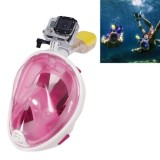 NEOPine Water Sports Diving Equipment Full Dry Diving Mask Swimming Glasses for GoPro HERO4 /3+ /3 /2 /1, L Size (Pink)