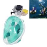 NEOPine Water Sports Diving Equipment Full Dry Diving Mask Swimming Glasses for GoPro HERO4 /3+ /3 /2 /1, L Size (Light Green)