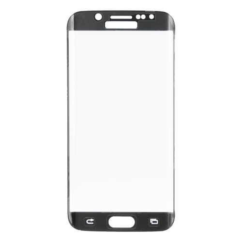 LOPURS 0.3mm 9H Surface Hardness 3D Curved Surface Full Screen Cover Explosion-proof Tempered Glass Film for Samsung Galaxy S6 edge (Black)