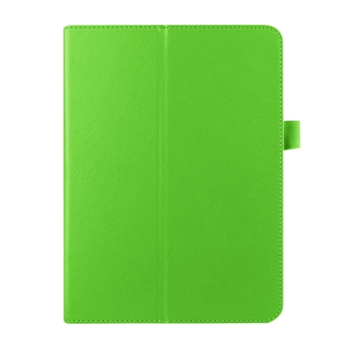 Litchi Texture Horizontal Flip Solid Color Smart Leather Case with Two-folding Holder & Sleep / Wake-up Function for Samsung Galaxy Tab S2 9.7 / T815 (Green)