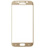 LOPURS 0.2mm 9H Surface Hardness 3D Curved Surface Full Screen Cover Explosion-proof Tempered Glass Film for Samsung Galaxy S6 edge (Gold)