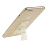 Universal Multi-function Foldable Holder Grip Mini Phone Stand for iPhone 6 & 6 Plus, iPhone 5 & 5S, Samsung Galaxy S6 / S5 / A7 / A5, HTC, Nokia, Sony (Transparent)