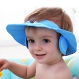 Adjust Rubber Baby Child Shampoo Shower Bathing Bath Protect Ear Soft Cap Hat
