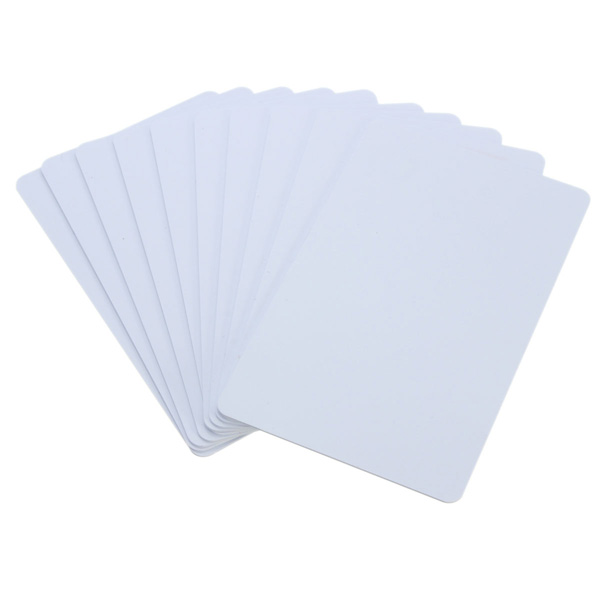 10Pcs NFC Smart Card Tag Tags S50 IC 13.56MHz Mifare IC Copier Read Write White Cards