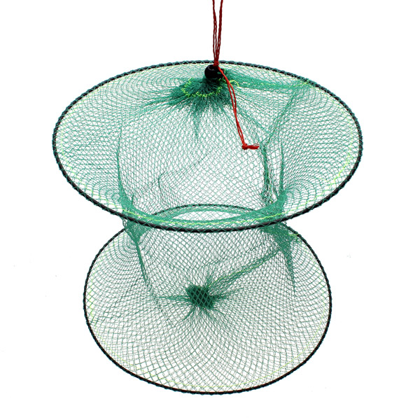 Folding Round Metal Frame Nylon Mesh Crab Fish Fishing Landing Net-Green. SKU255122_1.jpg; POA519454_2.jpg ...