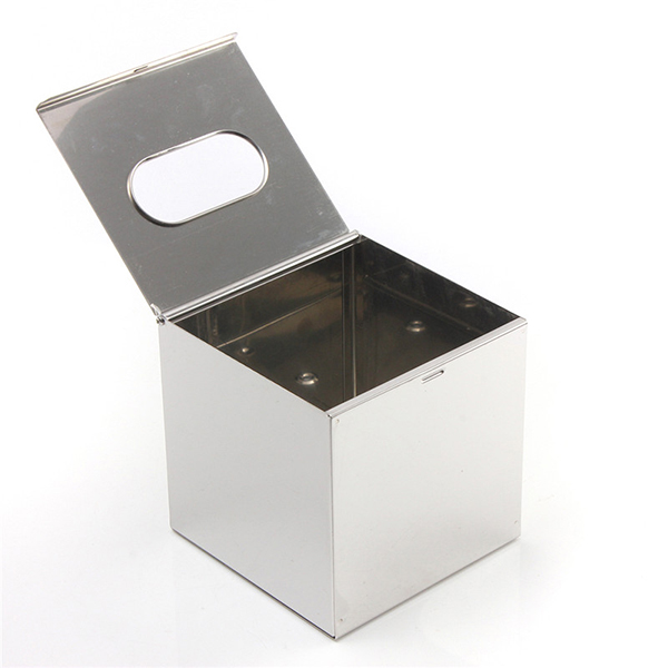Cube Stainless Steel Toilet Paper Box Tissue Container