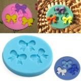 Silicone 3D Bowknot Fondant Mold Cake Decoration DIY Mold Mould