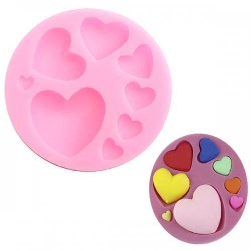 Beautiful Silicone Heart Love Shape Fondant Mold Mould 3D Cake Mold Cake Decoration