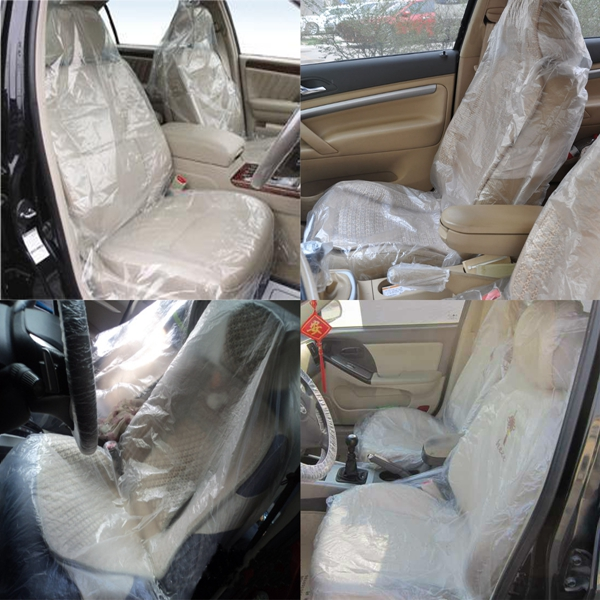 100 X Car Disposable Plastic Seat Covers Vehicle