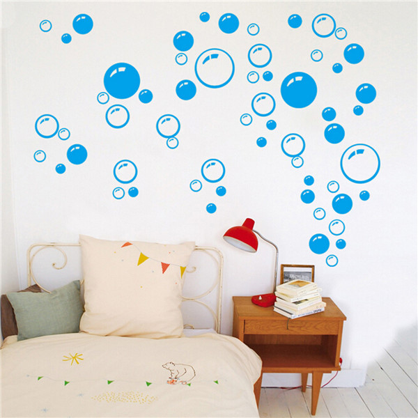 Bathroom Wall Art Bubbles : Removable bubbles diy art wall decal home decor