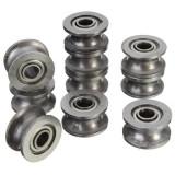 10pcs 624ZZ 4x13x7mm HCS U Groove Sealed Ball Bearings Guide Pulley Ball Bearings
