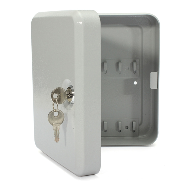 ANSLOCK Lock Box With 20 Key Cabinet Black Steel Security Lock-20 Hooks /&
