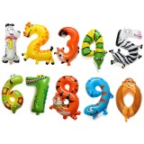 16 Inch Aluminum Foil Animal Number Balloons Birthday Party Decoration Balloon