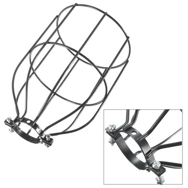 vintage industrial steel light bulb guard clamp on metal. Black Bedroom Furniture Sets. Home Design Ideas