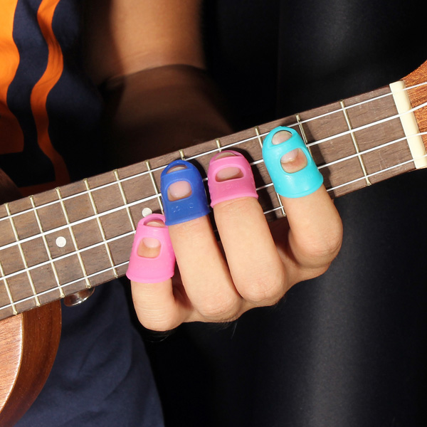 Guitar Finger Guards : 4 in 1 guitar fingertip protectors silicone finger guards for ukulele alex nld ~ Vivirlamusica.com Haus und Dekorationen