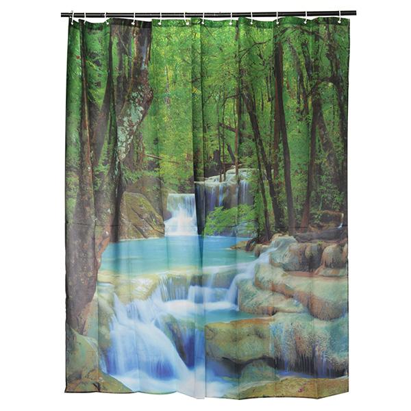 180x180cm 3d Waterproof Nature Scenery Waterfalls Bathroom