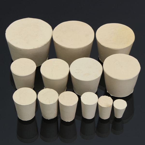 Flask Test Tube Solid Whitetapered Rubber Stopper Plug