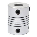 8mm x  8mm Aluminum Flexible Shaft Coupling OD19mm x L25mm CNC Stepper Motor Coupler Connector