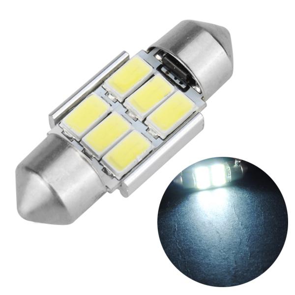 31mm Festoon 5630 6smd Canbus Error Free Car White Led Interior Dome Light Bulb