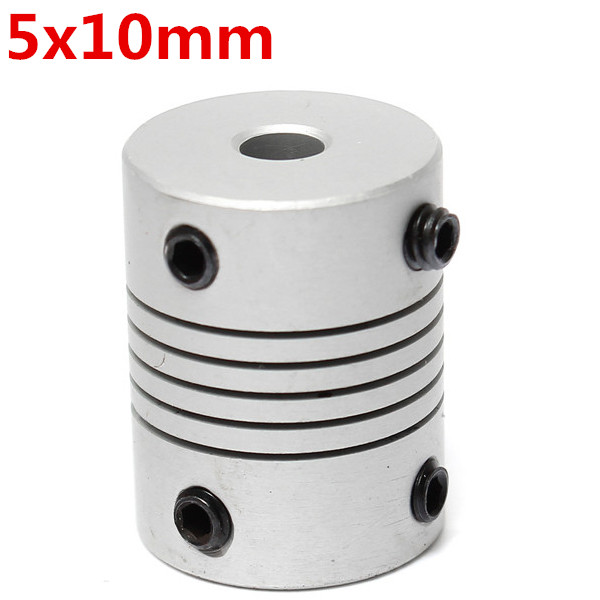 5mm X 10mm Aluminum Flexible Shaft Coupling Od19mm X L25mm