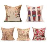 Printing Art Cotton Linen Pillow Case Sofa Car Cushion Cover Home Decor