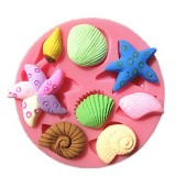 3D Silicone Seashell Starfish Sea Snail Fondant Cake Chocolate Mold Mould Cake Decoration