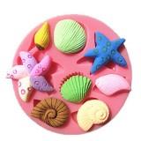 3D Silicone Seashell Starfish Sea Snail Fondant Cake Chocolate Mold Mould Cake Decoration