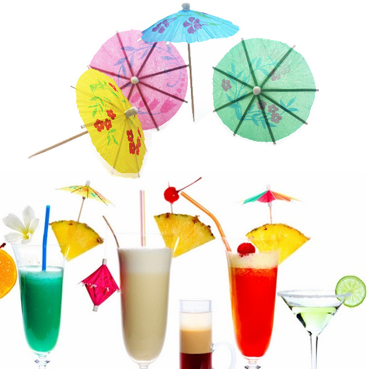 paper umbrellas for drinks