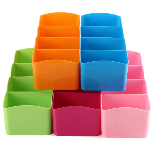 Diy Plastic Drawer Organizer Storage Divider Box Tie Bra