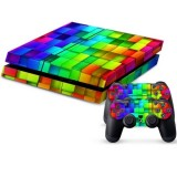 Tetris Pattern Protective Skin Sticker Cover Skin Sticker for for PS4 Game Console