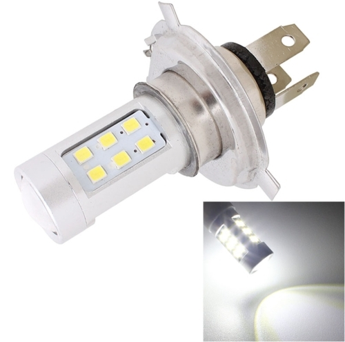 MZ H4 4.2W 630LM White Light 21 LED 2835 SMD Car Headlamp Bulb, Constant Current, DC 12-24V