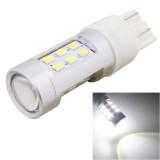 MZ T20 4.2W 630LM White Light Dual Wires 21 LED 2835 SMD Car Brake Light Daytime Running Light Bulb, Constant Current, DC 12-24V