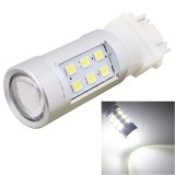 MZ T25 4.2W 630LM White Light Dual Wires 21 LED 2835 SMD Car Brake Light Daytime Running Light Bulb, Constant Current, DC 12-24V
