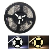 5052 SMD Epoxy Waterproof White & Warm White Light LED Light Strip with LED Controller & Remote, 60 LED/m, Length: 5m