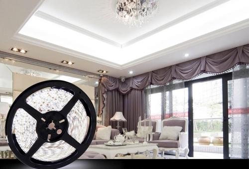 12W Bare Board White & Warm White Light LED 2835 SMD Rope Light, 120 LED/m, Length: 5m, Wide: 5mm