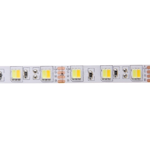 14W Bare Board White & Warm White Light LED 5052 SMD Rope Light with LED Controller & Remote, 60 LED/m, Length: 5m