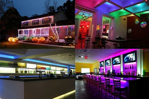 14W Bare Board White & Warm White Light LED 5630 SMD Rope Light, 60 LED/m, Double Board, Length: 5m, Wide: 8mm