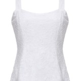 Women Sexy Slim Sleeveless Strap Low-Cut Lace Floral Short Tops Blouse Party