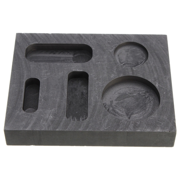 10 Oz Graphite Crucible Ingot Bar Combo Mold For Silver