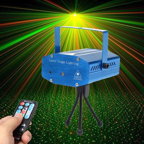 mini r g auto voice control led laser stage light projector with remote for xmas party ktv disco