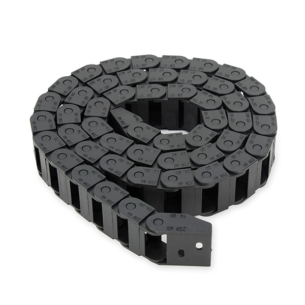 1000mm 10x20 mm Cable Drag Chain Radius 28mm Wire Carrier End Connectors Include