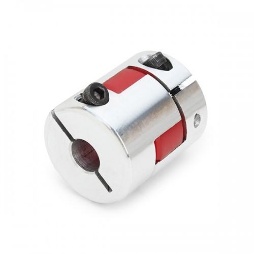 8mmx8mm od25mm x l30mm aluminum flexible spider shaft for Stepper motor shaft coupling coupler