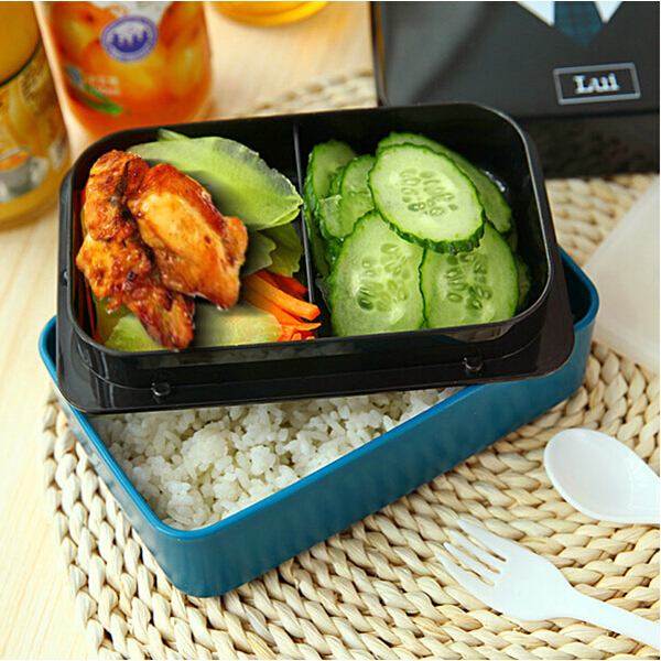 730ml 2 tier plastic lovely lunch box belt bento box sushi lunch box food con. Black Bedroom Furniture Sets. Home Design Ideas