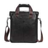 BOSTANTEN Men Business Genuine Leather Crossbody Bag Handbag Shoulder Messenger Briefcase