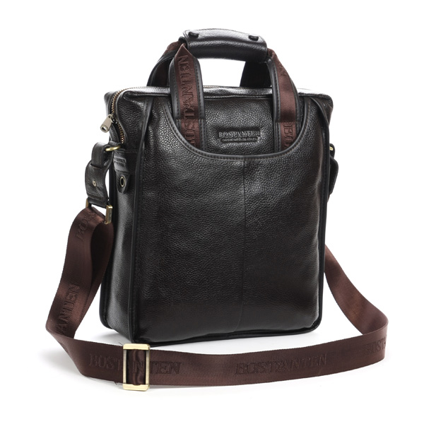BOSTANTEN Men Business Genuine Leather Crossbody Bag Handbag Shoulder Messenger Briefcase