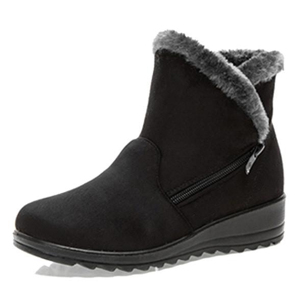 Lastest Details About Womens Snow Boot Nylon Short Winter Snow Fur Rain Warm