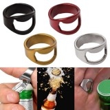 Stainless Steel Finger Ring Ring-Shape Beer Bottle Opener for Beer Bar Tool